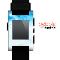 The Winter Blue Abstract Unfocused Skin for the Pebble SmartWatch