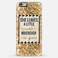 She Leaves a Little Sparkle iPhone 6 Plus case by Tangerine- Tane | Casetify