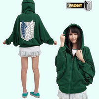 Fashion Attack On Titan Sexy Ladies Reon Corps Clothing Soft Schiropter weatshirt Cosplay Hoodie FF