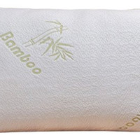 Home With Comfort - Adjustable Bamboo Pillow With Shredded Memory Foam and Stay Cool Cover (Queen)