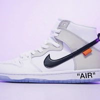 OFF WHITE x Nike SB Dunk High Pro DUNK 854851-100