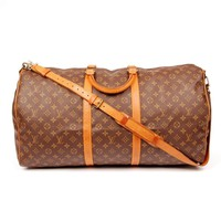Louis Vuitton Brown Monogram 5595 Canvas Keepall 60 Weekend/Travel Bag