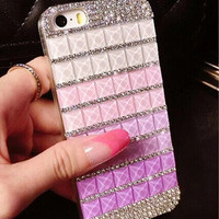 Bling crystal diamond case for iphone 5 5S
