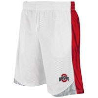 Ohio State Buckeyes Vector Workout Shorts - White