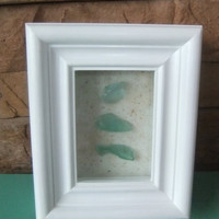 Beach Glass in Box Frame - Cottage Collection