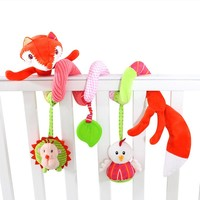 Baby Toys Animal Cute Fox Newborn Infant Baby Plush Toys Bed Stroller Car Hanging Playing Toy Musical Kids Rattles