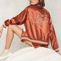 Stoned Immacualte Roller Girl Embroidered Jacket