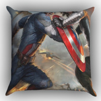 winter soldier captain america X0908 Zippered Pillows  Covers 16x16, 18x18, 20x20 Inches