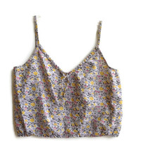 Cropped Floral Tank Top Size Large