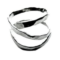 """""""Desert"""": Handcrafted 925 Sterling Silver Textured Ring, Multiple Sizes Available"""