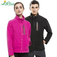 LoClimb Men Women Polar Fleece Heated Jacket 2017 Winter Warm Softshell Ski Coats Trekking Camping Hiking Jackets Clothing,AM133