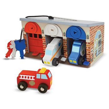 Toddler Melissa and Doug 'Lock & Roll Rescue Garage' Play Set