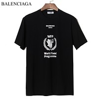 Balenciaga New fashion letter print couple top t-shirt Black