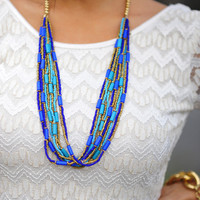 Mosaic Walkway Necklace: Turquoise | Hope's