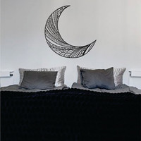 Moon Version 1 Design Outer Space Decal Sticker Wall Vinyl Art Home Room Decor