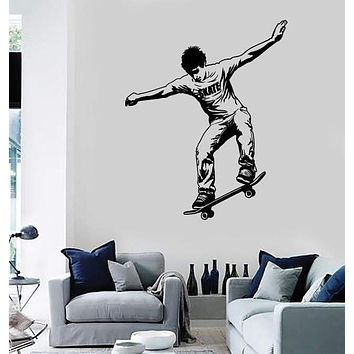 Wall Stickers Vinyl Decal Skateboard Street Sports Skate Teen Unique Gift (ig1857)