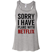 Sorry I Have Plans with Netflix Tank Top Racerback