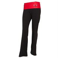 Chicago Bulls - Flip Down Waistband Logo Juniors Yoga Pants