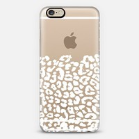 Wild White Leopard Transparent iPhone 6 case by Organic Saturation | Casetify
