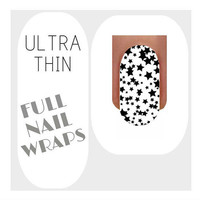 Nail Wraps Ultra Thin Nail Decal Wraps 18 Stars Water Slide Decals Nail Decal Nail Art Tattoos
