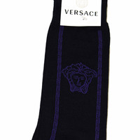 Authentic Versace Dress Socks Made in Italy - Default Title