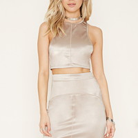 Rehab High-Neck Crop Top