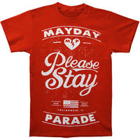 Mayday Parade Men's  Please Stay T-shirt Red