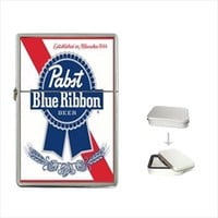 Pabst Blue Ribbon Beer Flip Top Lighter for Collectible or Special Gift from Idea Shoppe