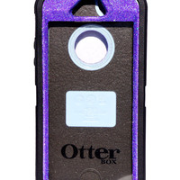 Otterbox Case iPhone 5/5s Glitter Cute Sparkly Bling Defender Series Custom Case Purple / Black