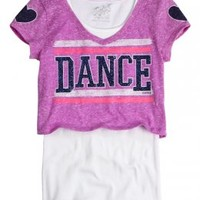 Sports Crop Over Long Tee   Fashion Graphics   Graphic Tees   Shop Justice