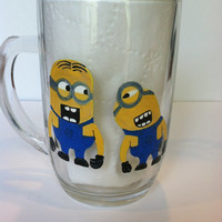 Hand painted Minion cup