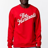 The Hundreds Forever Slant Crew Neck Sweatshirt - Mens Hoodie - Red