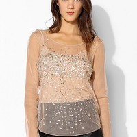 Kimchi Blue Stardust Mesh Top - Urban Outfitters