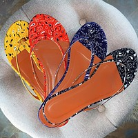 Summer fashion ladies pattern personality flip-flop sandals