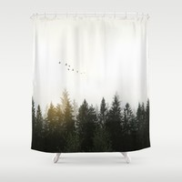 Forest Shower Curtain by Nicklas Gustafsson