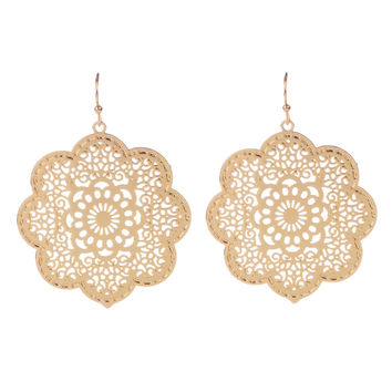 Hollowed Out Statement Earrings I Gold or Silver