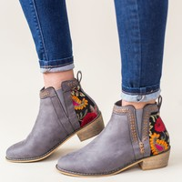 Only One Direction Bootie-Grey