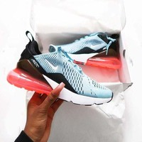 Nike Air Max 270 Trending New Style Women Transparent Air Cushion Running Sport Shoe Sneakers