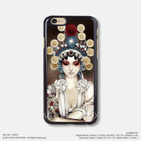 Beijing Opera painting girl iPhone 6 6Plus case iPhone 5s case iPhone 5C case iPhone 4 4S case Samsung galaxy Note 2 Note 3 Note 4 S3 S4 S5 case 023