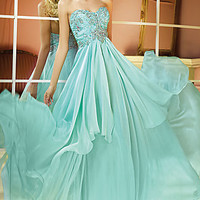 Strapless Beaded Accents Prom Gown by Alyce Paris