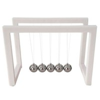 Acrylic White Newton's Cradle Office Desk Tableware