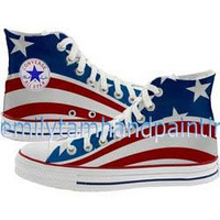 Custom Converse American Flag,  the Stars and the Stripes Inspired Converse Shoes