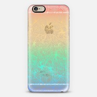 Geometric Rainbow Doodle - transparent iPhone 6 case by Micklyn Le Feuvre | Casetify