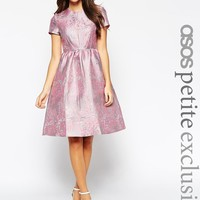 ASOS Petite | ASOS PETITE Midi Prom Dress in Floral Jaquard at ASOS