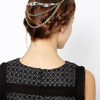 ASOS Chain and Stone Hair Combs