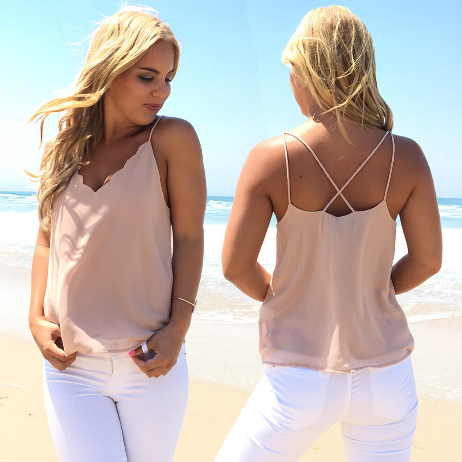 Image of Moonlight Blouse In Nude