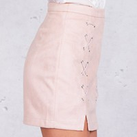 Leather Skirts   Suede Skirts   Lace Up Skirts