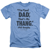 MODERN FAMILY/COOL DAD-ADULT HEATHER-LIGHT BLUE