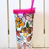 Floral Obsession Tumbler {22oz}