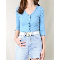 Double Metal Ring Faux Leather Buckle Belt in More Colors